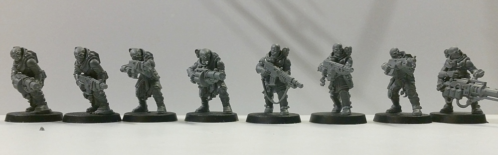 Deathwatch Overkill Genestealer Cult Hybrids conversions with autoguns generation 3 and 4 pic 2