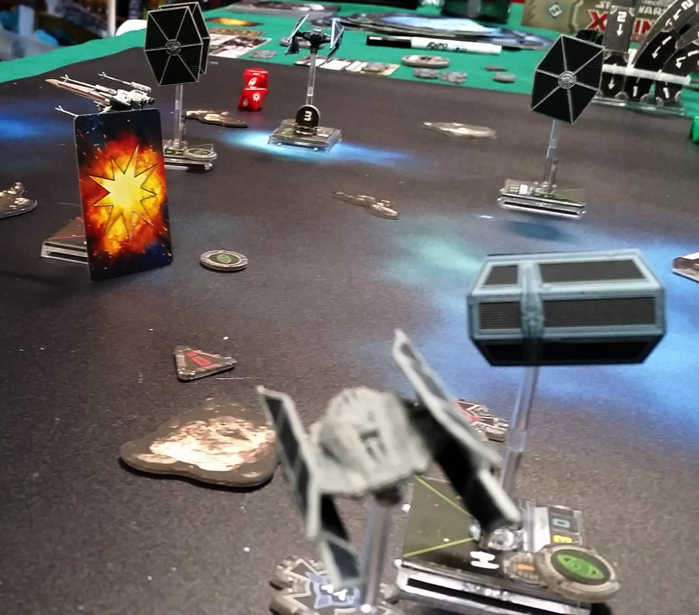 TIE Avenger destroys X-Wing Heroes of Aturi Cluster