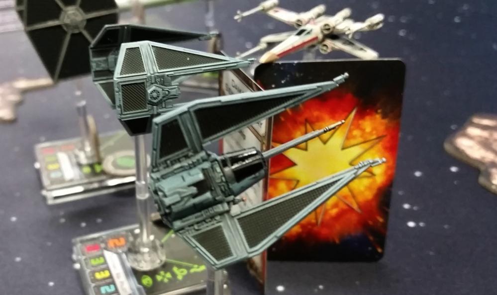 TIE Phantom TIE Interceptor and Rebel Transport X-Wing miniatures magnetized