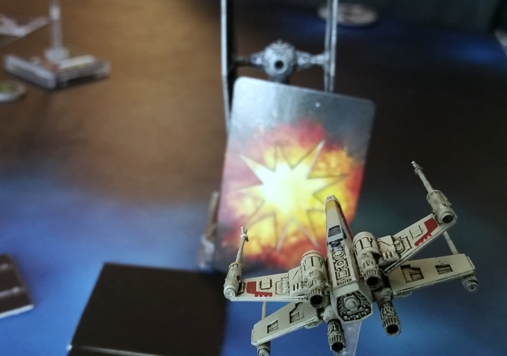 Magnet X-Wing TIE Fighter damage card Heroes of the Aturi Cluster Star Wars miniatures game