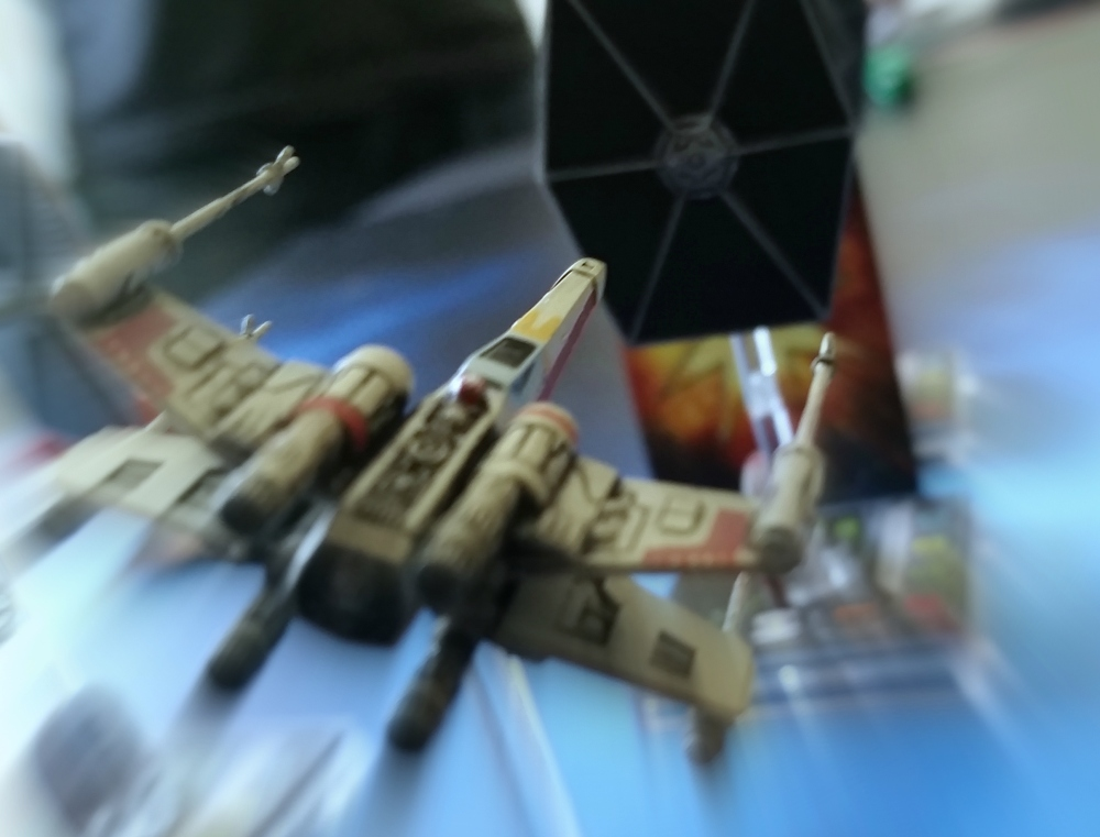 Magnets X-Wing destroys TIE Fighter Heroes of the Aturi Cluster miniatures game