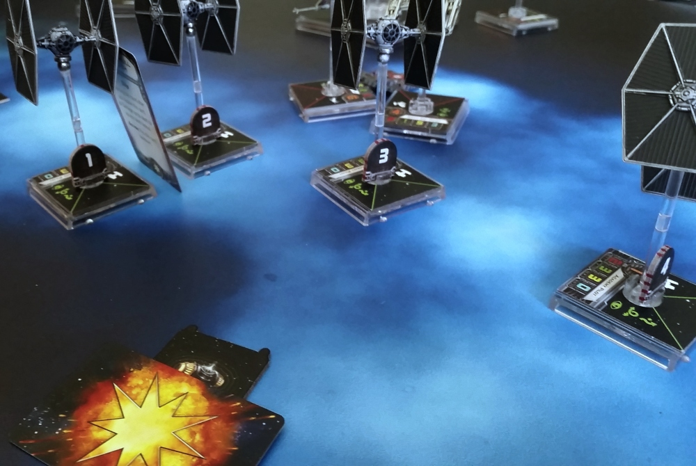 Proton Bomb X-WIng Heroes of the Aturi Cluster TIE Fighters miniatures