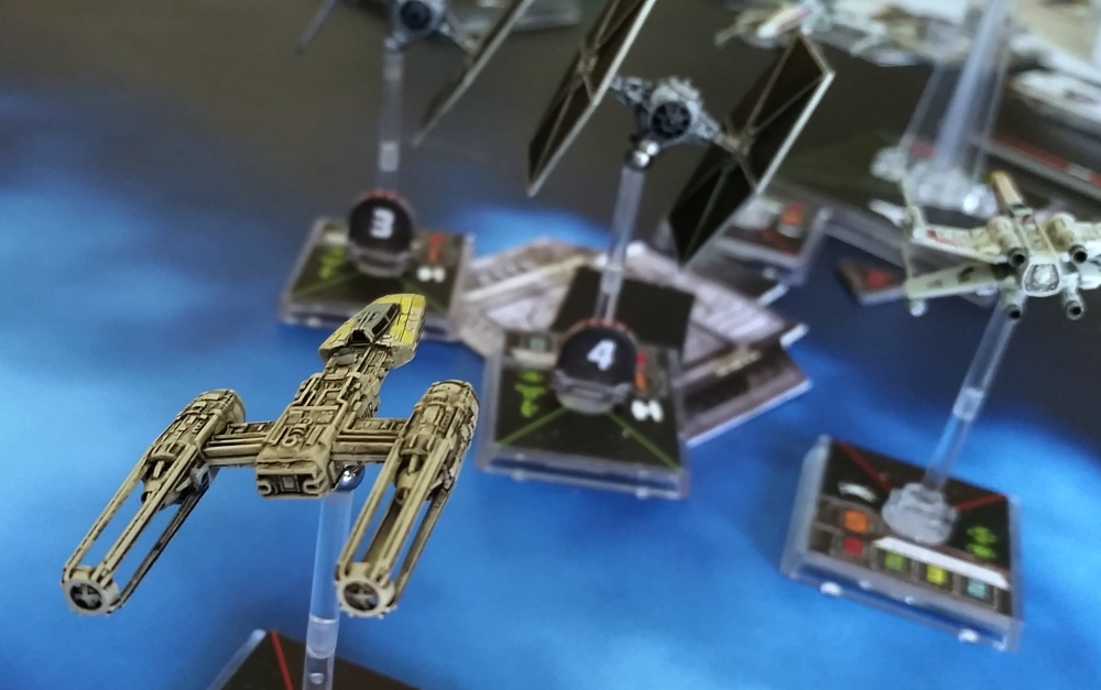 Y-Wing Magnetized destorys turbolaser Heroes of the Aturi Cluster X-Wing Miniatures